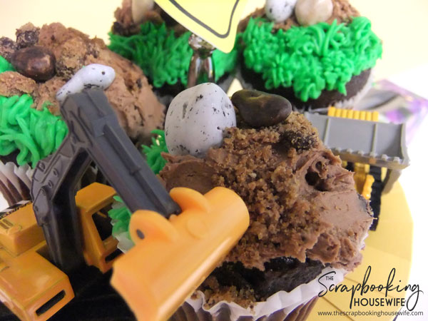 Construction Theme 3rd Birthday Cupcakes