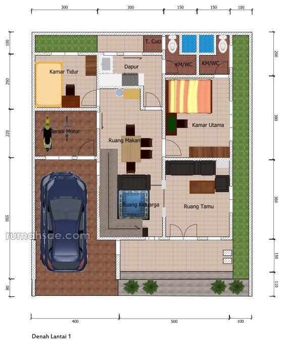 Desain Rumah Indonesia Desain Rumah Ukuran Tanah 12x10