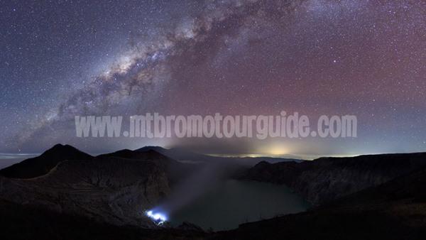Milky Way Ijen Crater Banyuwangi
