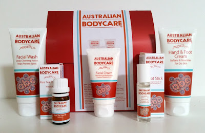 Australian Bodycare Facial Wash, Pure Tea Tree Oil, Facial Cream, Spot Stick and Hand and Foot Cream