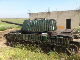 снарядные гильзы как защита танка от птрк