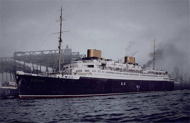 1930 ss ts Europa ready to sail