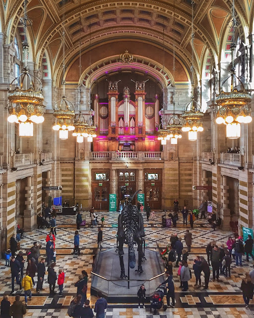 Dippy on Tour in the Kelvingrove Art Gallery & Museum, Glasgow, Scotland