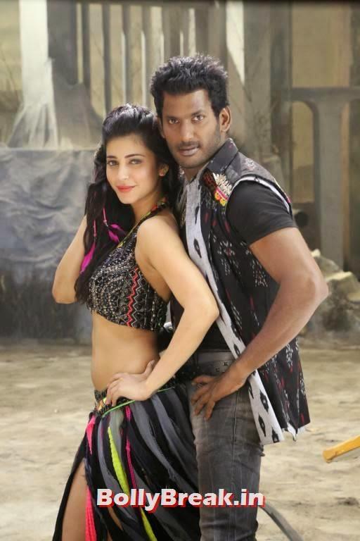 , Shruti Hassan Navel Stills from Poojai Movie