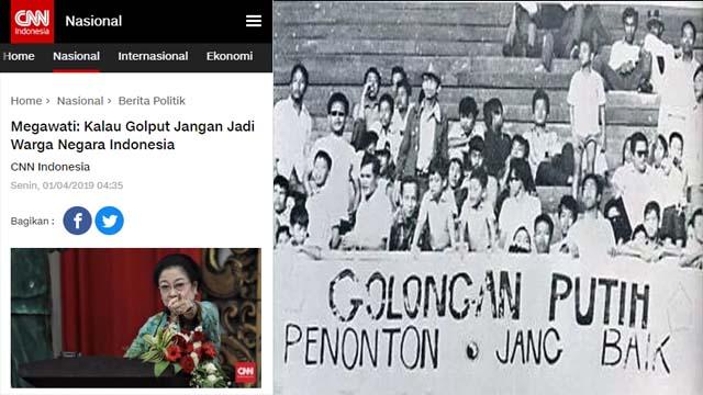 Sebut Golput Jangan jadi Warga Negara Indonesia, Mega Termakan Omongannya Sendiri