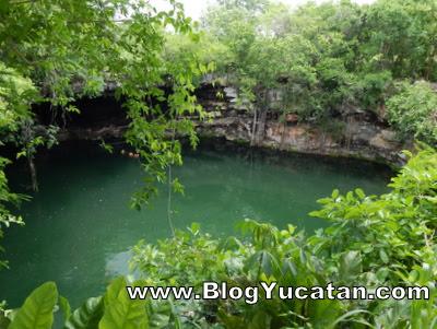 Cenote Kikil Tizimin Yucatan Mexico