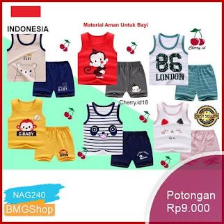 NAG240 Baju Bayi Oblong 0 2 Thn Setelan Anak Bmgshop