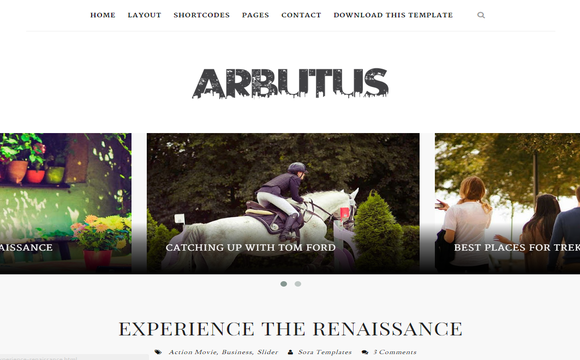 Arbutus Blogger Template