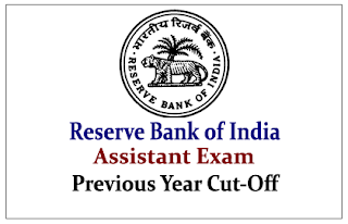 Reserve Bank of India Assistant Previous Year Cut-Off (Category Wise)