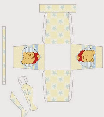 Winnie the Pooh Baby Free Printable Watering-Can Box.