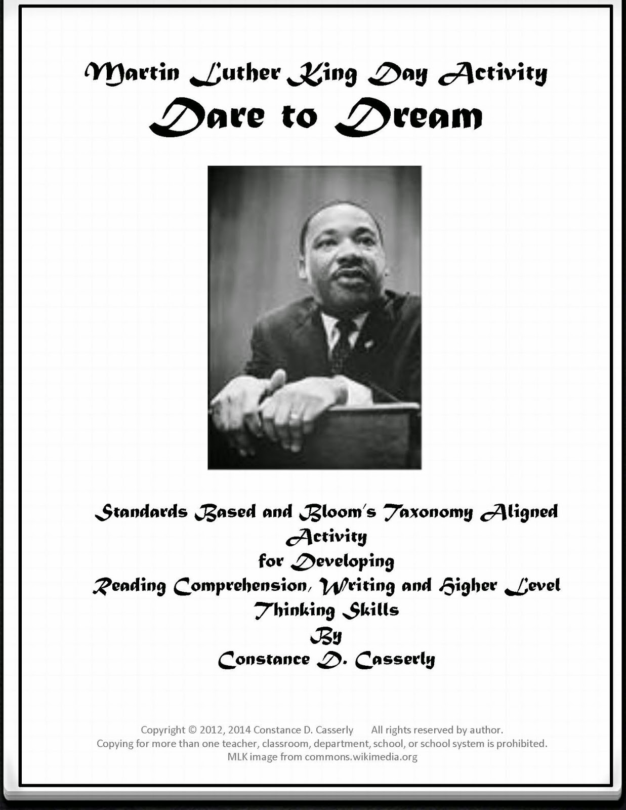 """Martin Luther King Day Activity - 'Dare to Dream'"""