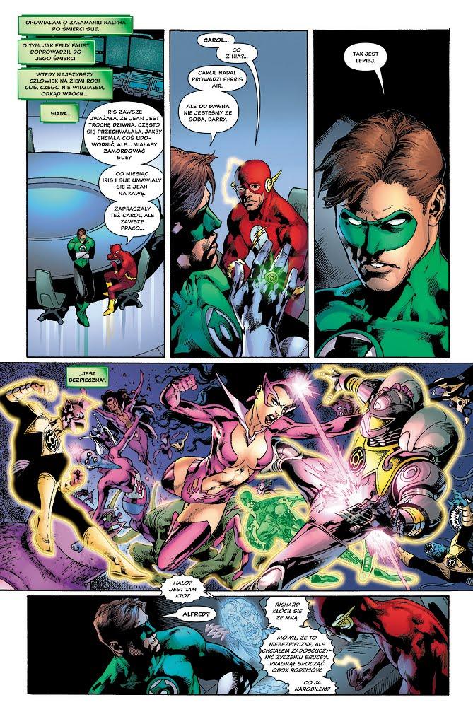 Green Lantern: Najczarniejsza noc przykładowa strona