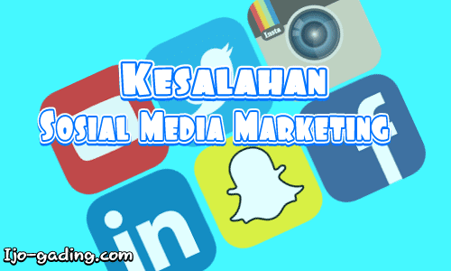 kesalahan promosi media sosial