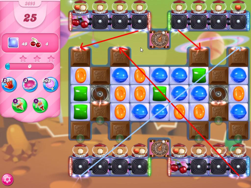 Candy Crush Saga level 3695