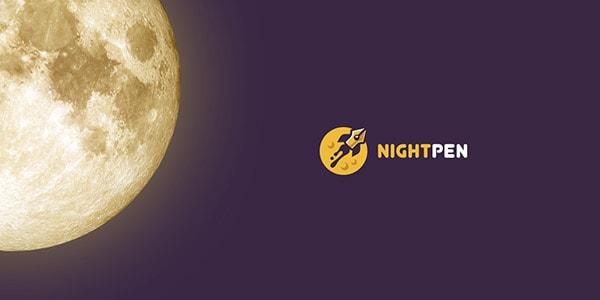 Inspirasi Desain Logo Kreatif 2017 - Creative Nightpen Logo