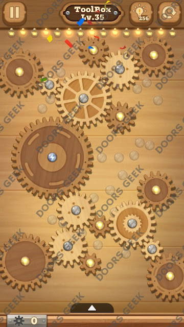 Fix it: Gear Puzzle [ToolBox] Level 35 Solution, Cheats, Walkthrough for Android, iPhone, iPad and iPod