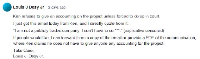 KoDT:LAS Kickstarter Comment