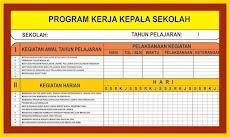 Download Contoh Program Rencana Kerja Kepala Sekolah Tahun 2018/2019