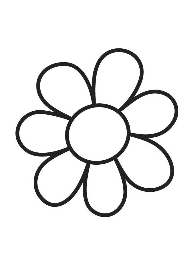 Big Flower Coloring Pages Flower Coloring Page