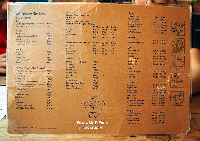 More Drinks Menu