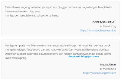 testimoni pengguna template blogger viomagz