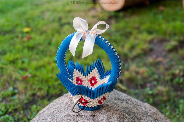 593. Koszyczek z origami / 3d origami basket