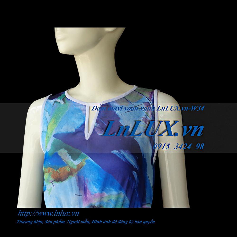 lnlux.vn-dam-maxi-voan-xanh-lnlux-w34-than-truoc