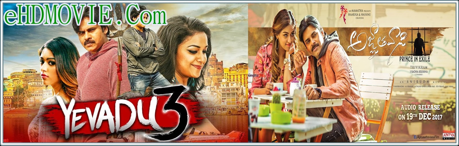 Agnyaathavaasi (Yevadu 3) 2018 Full Movie Hindi Dubbed 720p - HEVC – 480p ORG BRRip 400MB - 550MB – 950MB ESubs Free Download