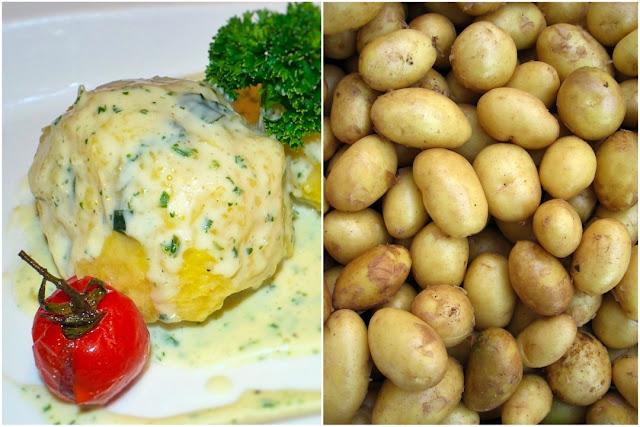 Gefüllte Hunsrücker Kartoffelklöße.
