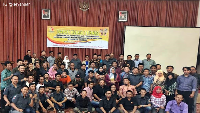 Rapat Kerja Teknis Pengawasan DPTHP dan Bahan Kampanye Peserta Pemilu Tahun 2019