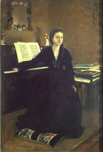 Edgar Degas - Madame Camus junto al piano - 1869