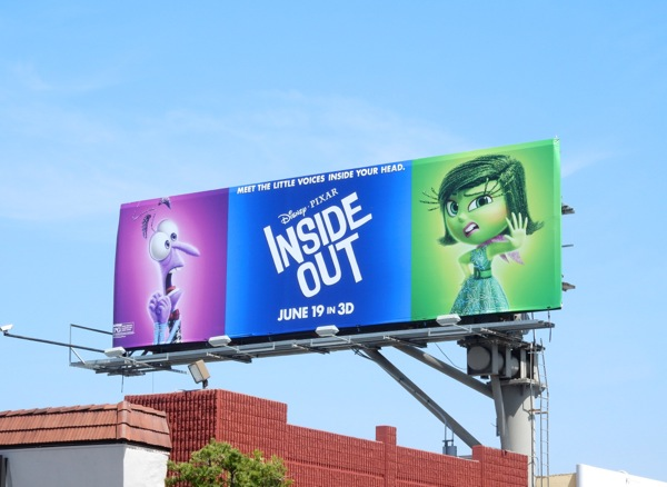 Inside Out Fear and Disgust billboard