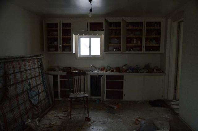 casa abandonada con un tesoro