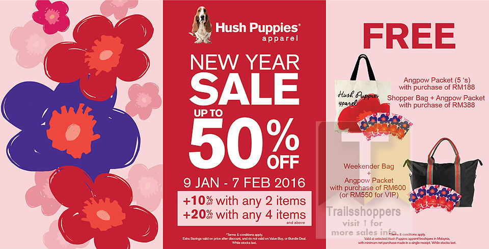 Hush Puppies Malaysia Apparel New Year Sale end 7 FEB 2016 ... ee7f4a7fde