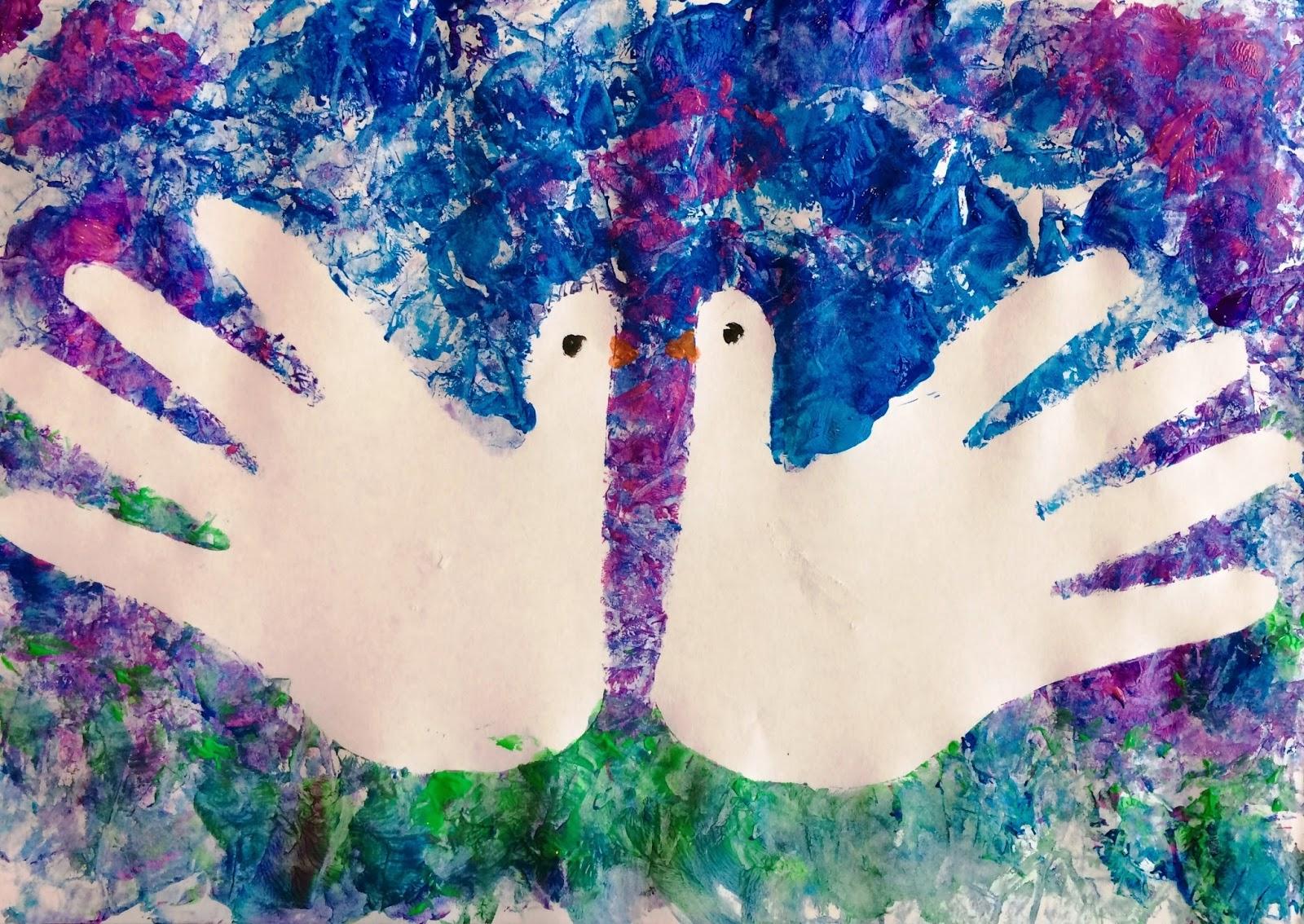 Porumbei în asfințit