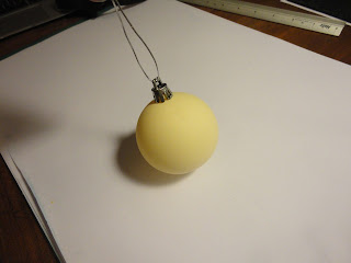 Plain cream plastic bauble