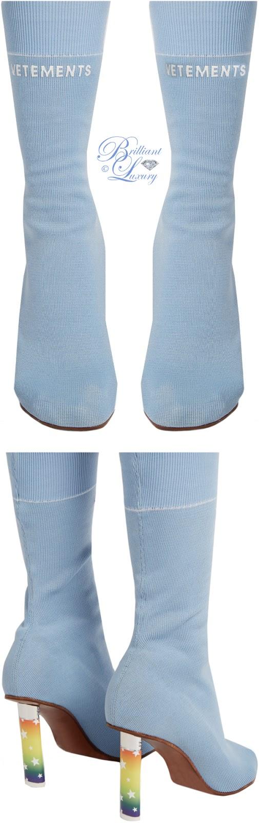 Brilliant Luxury ♦ Vetements lighter heel ankle boots