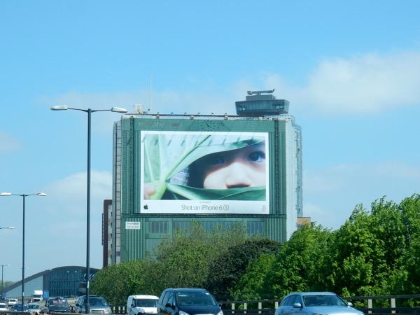 Giant Shot on iPhone 6s billboard London