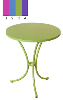 mesa forja terraza en colores