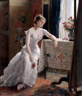 Подборка живописи  «Женщина в белом»