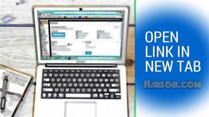 Internal Link Terbuka Pada New Tab