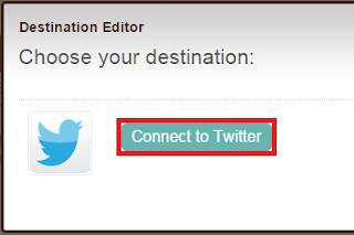 menambahkan twitter sebagai tujuan sosial media