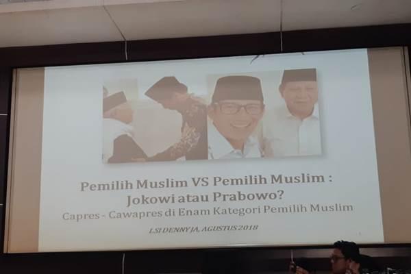 LSI: Jokowi-Ma'ruf Unggul di Pemilih Muslim yang Jarang Salat