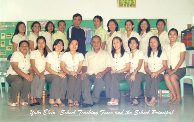 Yubo Elem. School 18 teachers and the school principal