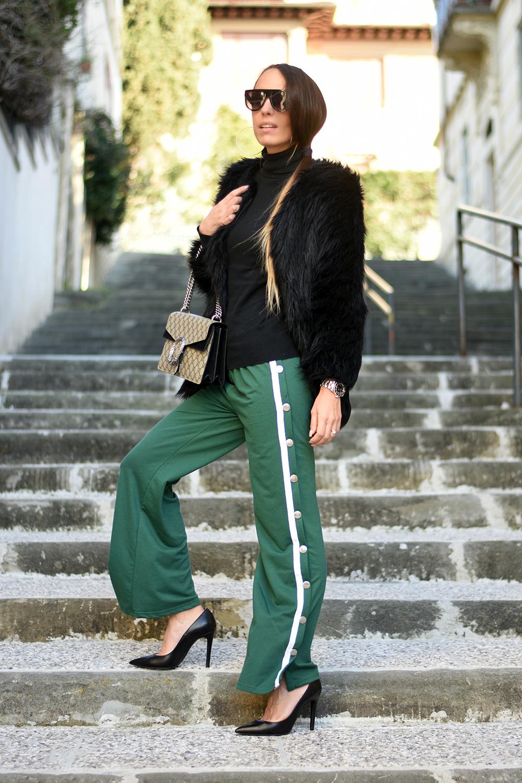 pantaloni tuta verde