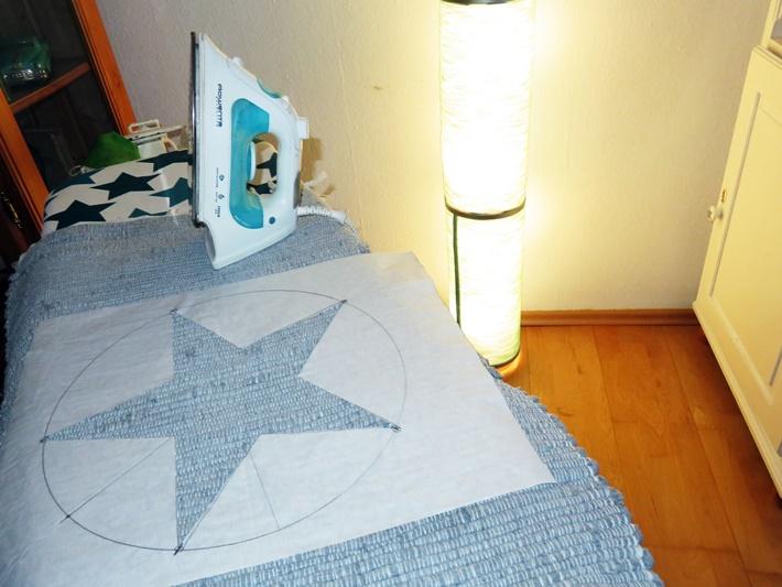Flickenteppich mit Stern - selbstgemacht