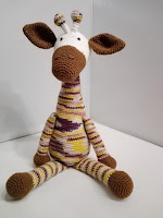 Giraf knuffel haken