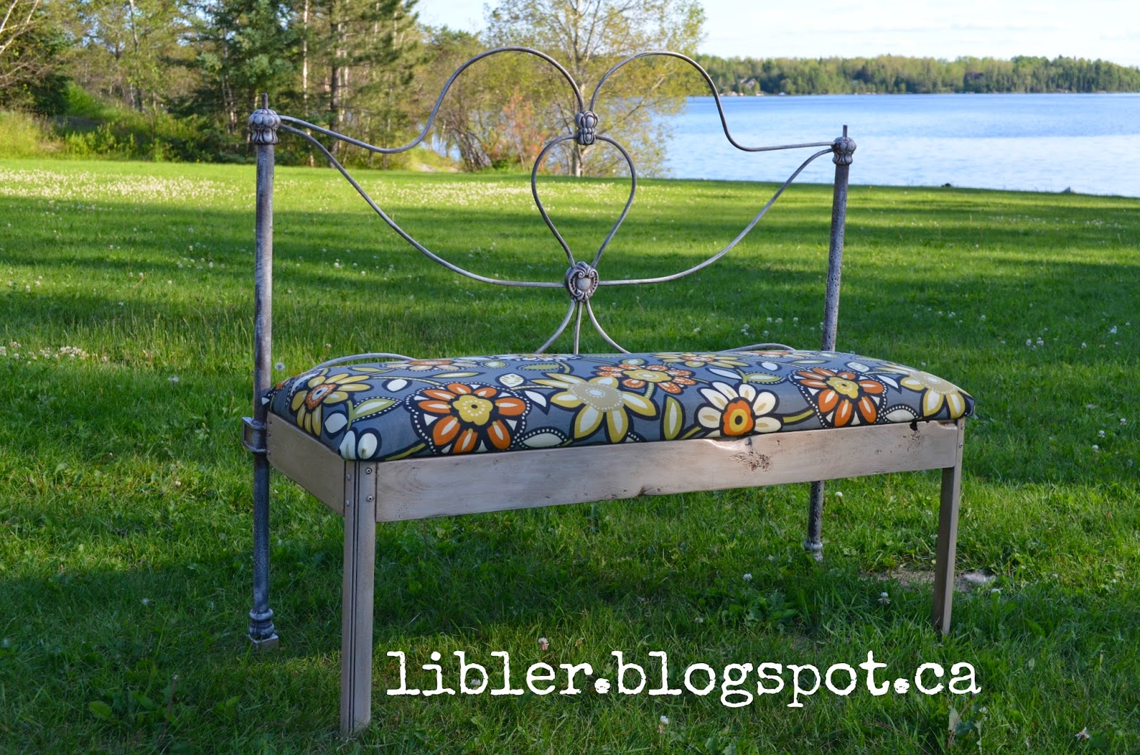 Rusty Antique Wire Bed Frame Made Into A Bench