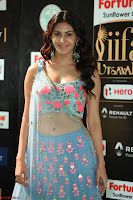 Amyra Dastur in Flower Print Choli Transparent Chunni at IIFA Utsavam Awards020.JPG