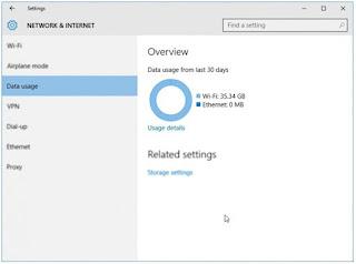 Cara Mengetahui Penggunaan Data di Windows 10
